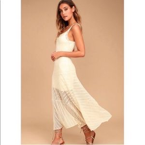 Free People Love Story Lace Maxi in Ivory